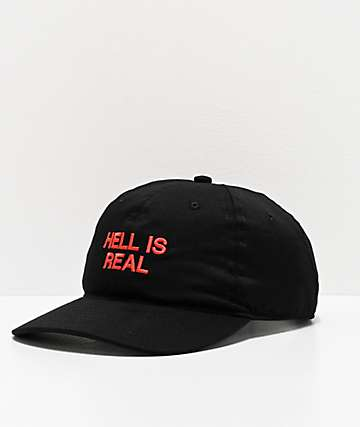 FRESHHELL It's Real Black Strapback Hat