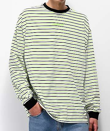 Fairplay Arden Green Striped Long Sleeve T-Shirt