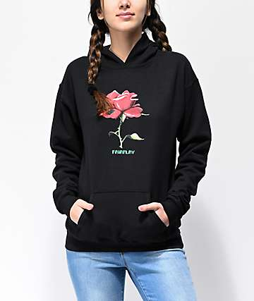 Fairplay Digital Rose Black Hoodie