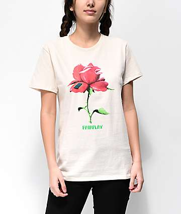 Fairplay Digital Rose Natural T-Shirt