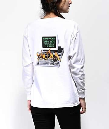 Fairplay Y2K White Long Sleeve T-Shirt