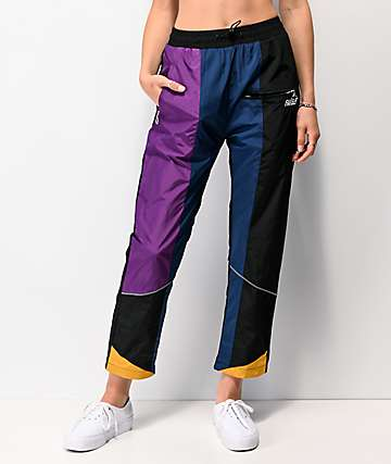 Favelo Black, Purple & Blue Work Jogger Pants