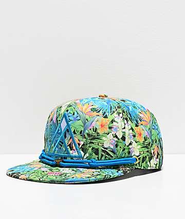 Findlay Podova Blue & Floral Print Snapback Hat