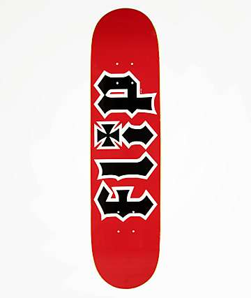"Flip Team HKD Red 7.75"" Skateboard Deck"