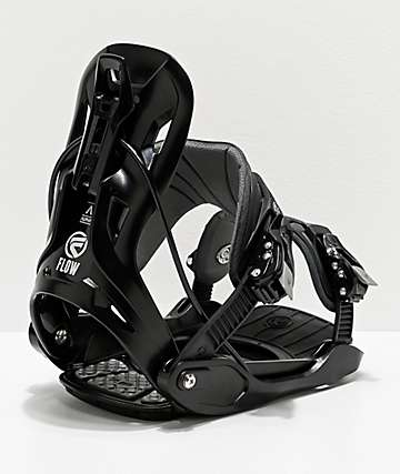 Flow Alpha Black Snowboard Bindings 2020