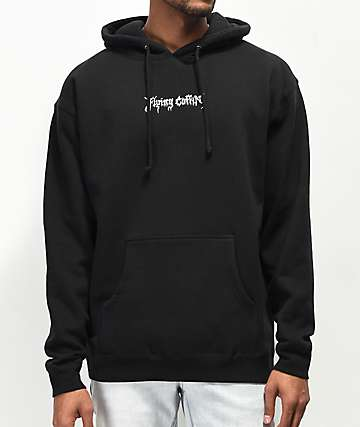 Flying Coffin Alf Logo Glow In The Dark Black Hoodie
