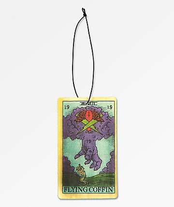 Flying Coffin Tarot Card Air Freshener