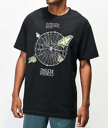 Flying Coffin Web Black T-Shirt