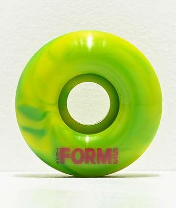 Form 53mm 103a Rasta Swirl Green Skateboard Wheels