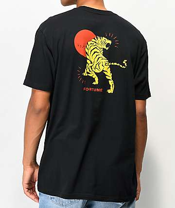 Fortune Tiger Black T-Shirt