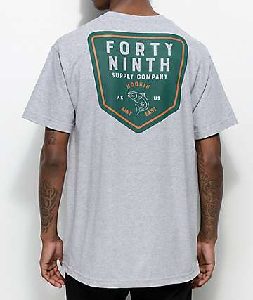Forty Ninth Supply Co. Hookin Ain't Easy Grey T-Shirt