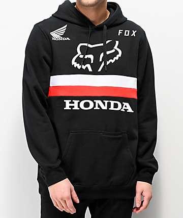 Fox x Honda Black Hoodie