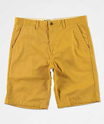 Free World Discord Dark Yellow Chino Shorts
