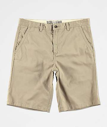 Free World Discord Light Khaki Chino Shorts