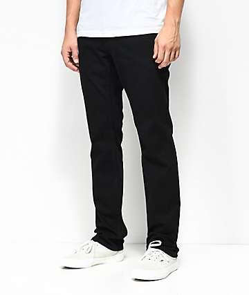 Free World Messenger Pure Black Stretch Skinny Jeans