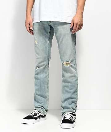 Free World Messenger Westport Ripped Skinny Jeans