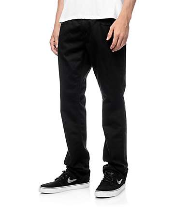 Free World Night Train 5 Pocket Black Twill Pants (Past Season)