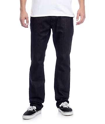 Free World Night Train Black Raw Denim Regular Fit Jeans