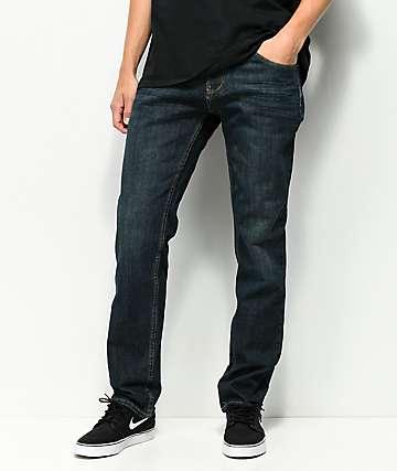 Free World Night Train jeans con lavado oscuro