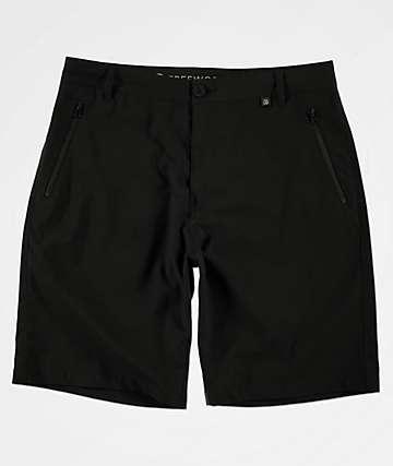 Free World Ultraist Stretch Tech Black Board Shorts