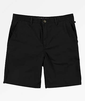Free World Walker All Black Chino Shorts