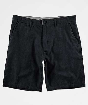 Free World Walker Heather Black Chino Shorts