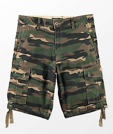 Free World Wreckage Camo Cargo Shorts
