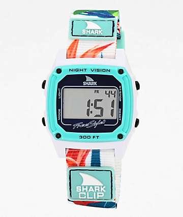 Freestyle Shark Classic Clip Aloha reloj digital verde azulado
