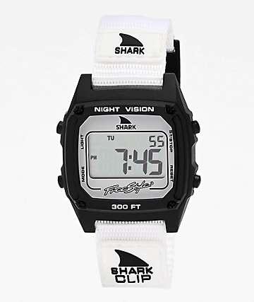 Freestyle Shark Classic Clip Monochrome reloj digital negro y blanco