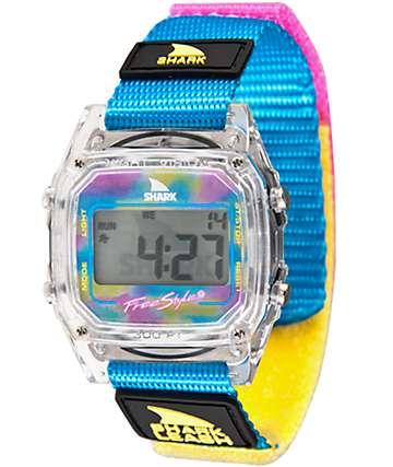 Freestyle Shark Classic Leash reloj digital cian transparente