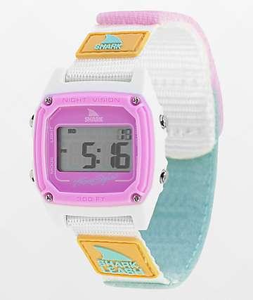 Freestyle Shark Classic Leash reloj digital de tie dye azul