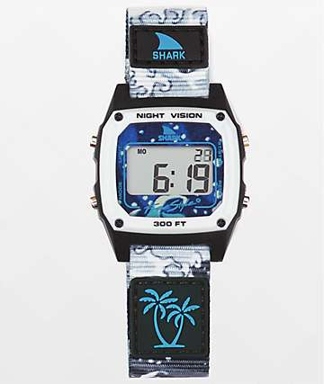 Freestyle x Luke Davis Shark Classic Clip White Wave Digital Watch