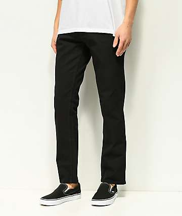 Freeworld Night Train Pure Black Stretch Denim Jeans