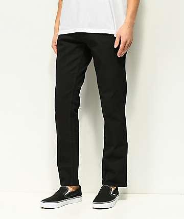 Freeworld Night Train Pure Black Stretch Denim Jeans