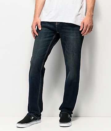Freeworld Night Train jeans de mezclilla elástica con lavado sucio