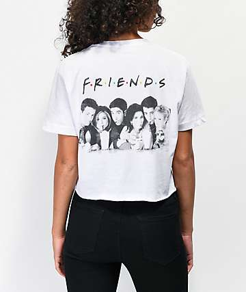 Friends Milkshake White Crop T-Shirt