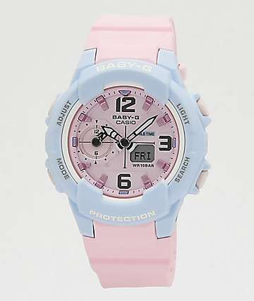 G-Shock Baby-G Pink & Blue Digital Watch