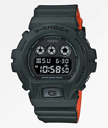 G-Shock DW6900 Stealth Green Digital Watch