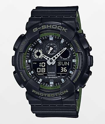 G-Shock GA-100L-1A Military Black Layered Watch