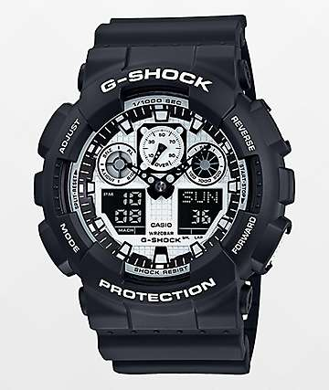 G-Shock GA100BW-1A Watch