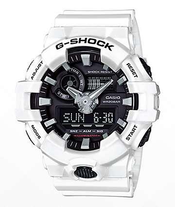 G-Shock GA700-7A White & Black Watch