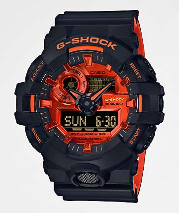 G-Shock GA700BR Black & Orange Analog-Digital Watch