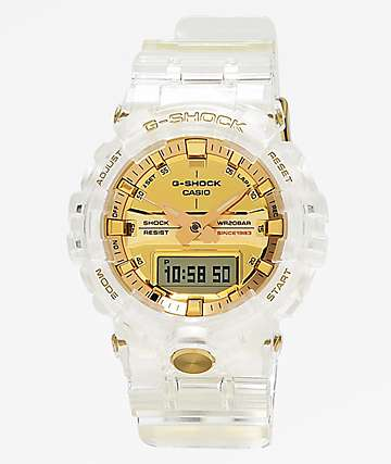 G-Shock GA835 Skeleton & Gold Watch