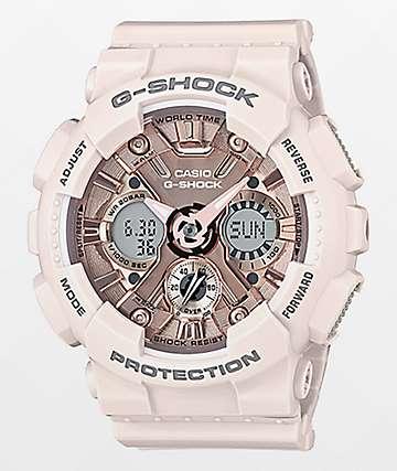 G-Shock GMAS120MF-4A Light Pink & Gold Watch