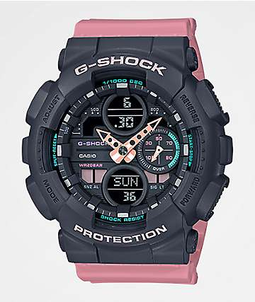 G-Shock GMAS140 Combination Rose Pink & Grey Watch