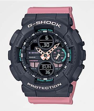 G-Shock GMAS140 Combination Rose reloj rosa y gris