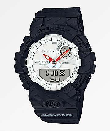 G-Shock x Asicstiger GBA800AT-1A Black & White Watch