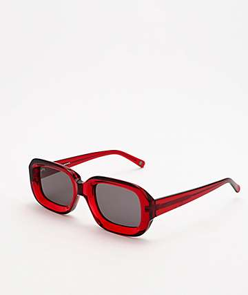 GLVSS The Crush Clear Red Sunglasses