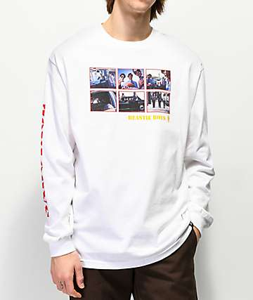 Girl x Beastie Boys Sabotage Photos White Long Sleeve T-Shirt