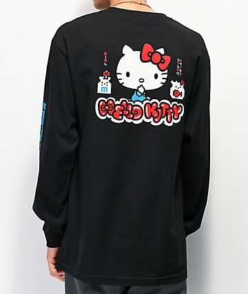 Girl x Hello Kitty 45th Anniversary Black Long Sleeve T-Shirt